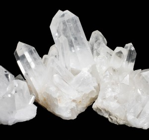 Quartz Crystals 2 on Black Background